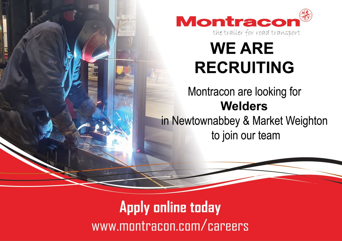Montracon is one of the leading trailer manufacturers serving the UK, Ireland and export markets and offers a high quality, diverse product portfolio. We are now looking for #Welders to join our team.  Visit: https://t.co/a6ZGQ89lTv https://t.co/k2xMgrdwOl
