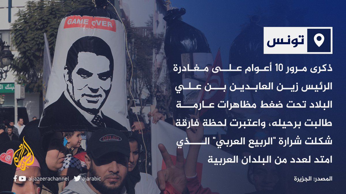 """عقد من الزمان على صيحة """"بن علي هرب"""" في #تونس.. ما ذكرياتكم مع هذه اللحظة؟"""