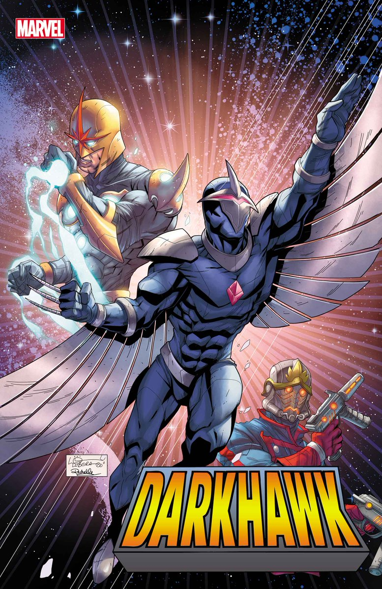 """Darkhawk reclaims his destiny as the hero's 30th anniversary kicks off!  The hottest hero of the '90s is celebrated in """"Darkhawk: Heart of the Hawk"""" #1. Find out more here:"""