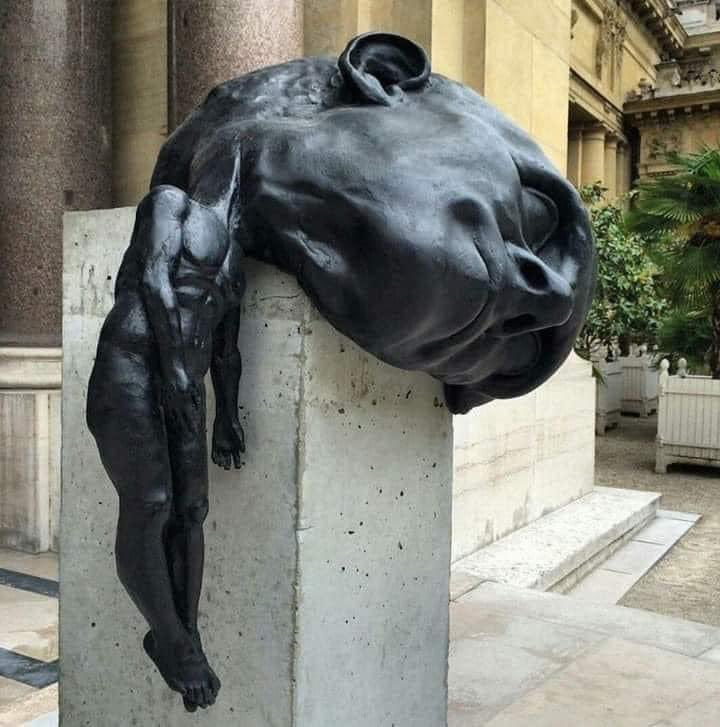 """Parveen Kaswan on Twitter: """"′′The Weight of Thought′′ bronze sculpture by  Thomas Lerooy. Or you got a better caption.… """""""