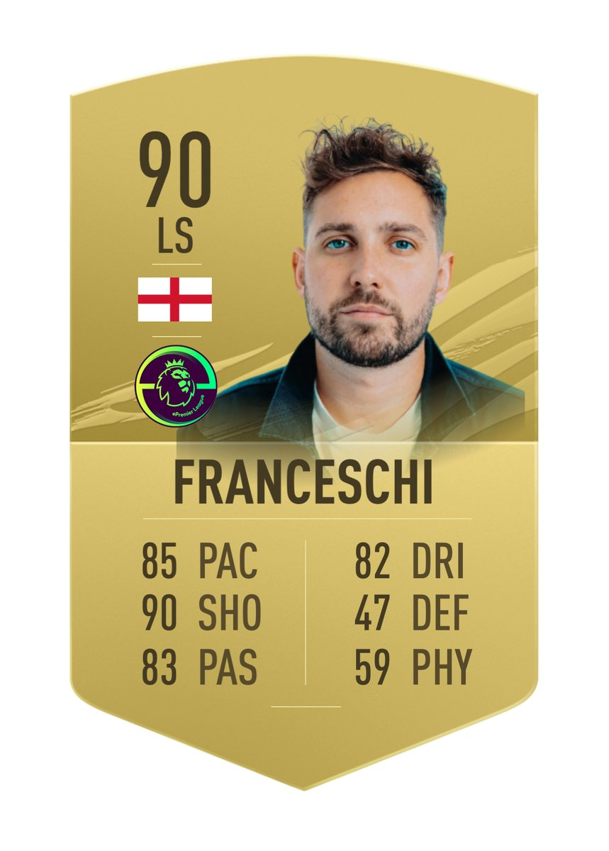 Josh Franceschi's Official #ePremierLeague FUT Card  Big stats for the 2020 Finalist!   New season starts soon.. who's in? Sign up here: