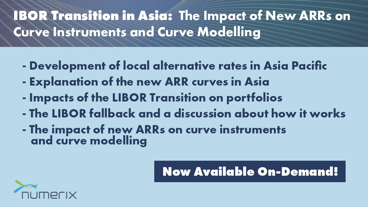 Access new content from #AsiaRisk Congress Virtual in this expert presentation from Numerix! The presentation is now available exclusively to our audience. Watch the session, ask questions, download related content and more!  #LIBOR #Webinar #APAC
