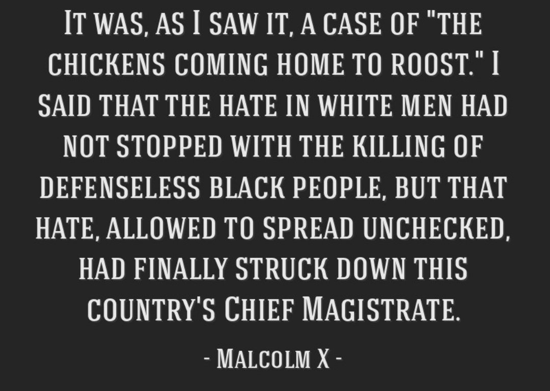 """A case of """"The chickens coming home to roost"""". #Insurrectionists"""