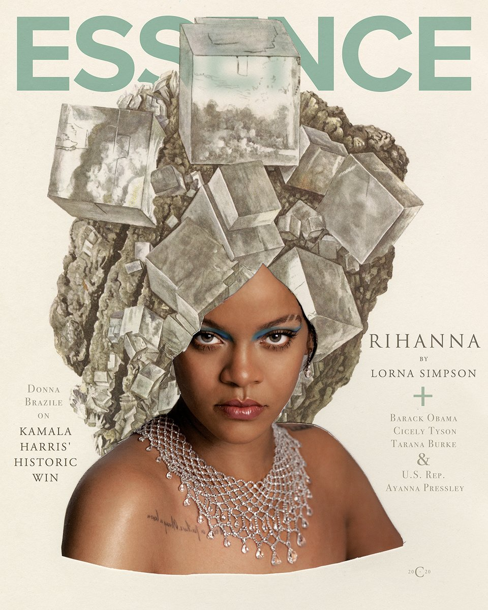 Unveiling our January + February cover art featuring a stunning collaboration with global fashion and beauty founder @rihanna and artist Lorna Simpson. The striking visuals channel iconic black magazine spreads with an ethereal Rihanna.  #ESSENCE