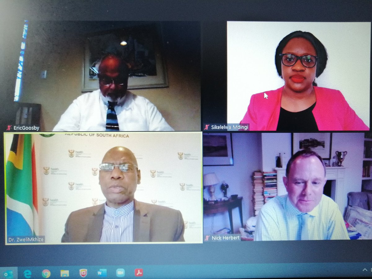 #TBPoliticalAdvocacy #Webinar #Covid19inSA Dr Mkhize: at the start of the lockdown, we noticed that people were not accessing #HIV and #TB services. It is important for governments to ensure that #TB and #HIV services are not neglected or compromised in the response to #COVID19.