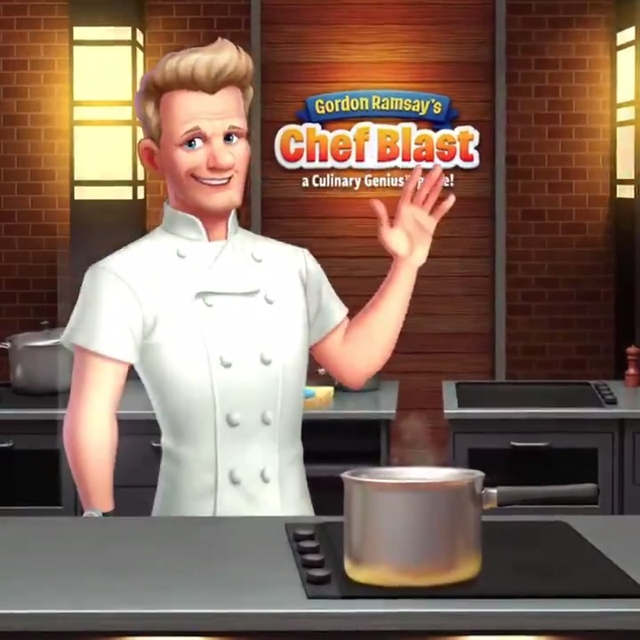 Who's that handsome looking chef ?? It's me in my newest game Gordon Ramsay Chef Blast ! It's a puzzle game you will absolutely love (and yes I do yell at you !) ! Download it now: