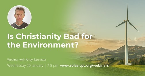 "Looking forward to speaking at this webinar next week on ""IS CHRISTIANITY BAD FOR THE ENVIRONMENT?"" Hosted by @SolasCpc, it's free to attend — and there will be a live Q&A. (https://t.co/YtupltJ6nj) https://t.co/az1onPysJi"