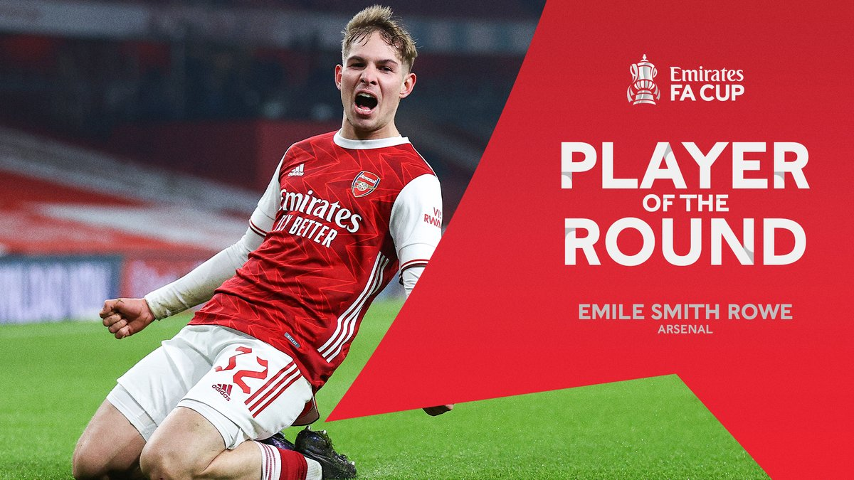Introducing your @emirates Player of the Third Round, with 61.8% of 51,685 votes 🥁  𝐄𝐦𝐢𝐥𝐞 𝐒𝐦𝐢𝐭𝐡 𝐑𝐨𝐰𝐞 🔥  #EmiratesFACup