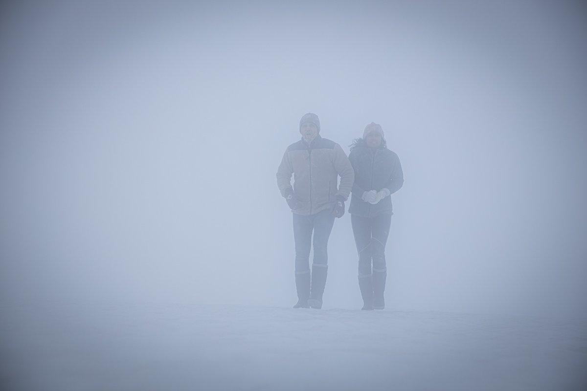 Netflix's creepy 'Red Dot' trailer has a couple fleeing a hunter through the snow