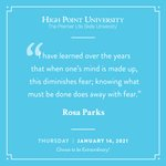 [CALENDAR] #DailyMotivation from Rosa Parks. #HPU365