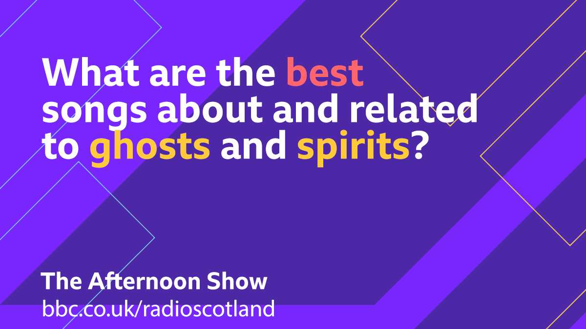 This afternoon we're in a spooky mood thanks to @Jenni_Fagan and her new book set in an Edinburgh tenement haunted by a curse.  So for our Topical Tune we are looking for your songs about ghosts and spirits  #TheAfternoonShow with @GrantStottOnAir -