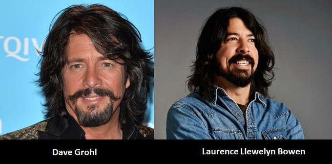 They must be long lost twin brothers  Happy Birthday Dave Grohl