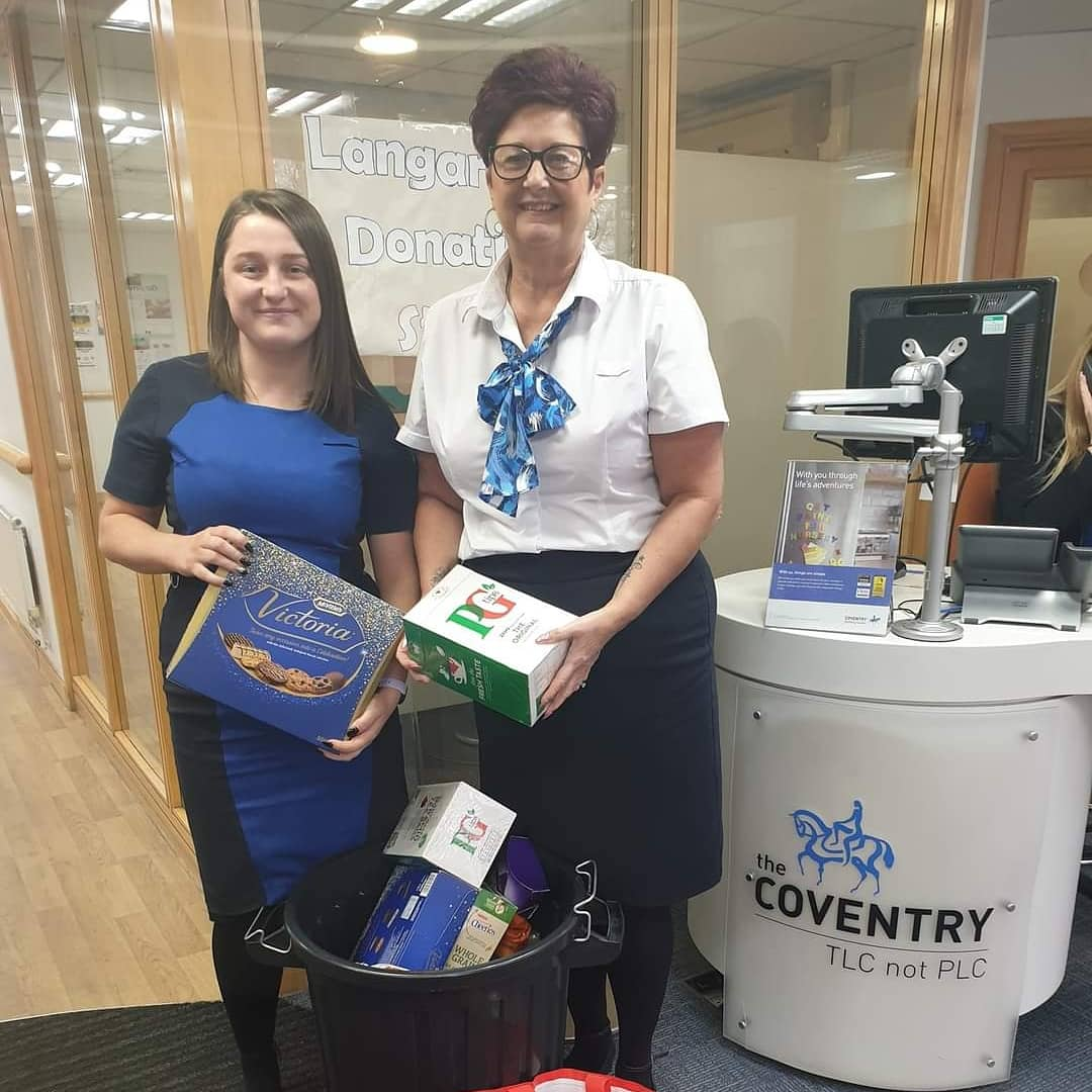 Amazing donations Coventry Building Society at Jubilee Crescent have been supporting Langar Aid for the past 2 years collecting food donations at their branch. During this pandemic they raised £486.68 along with food items generously donated by the local public.