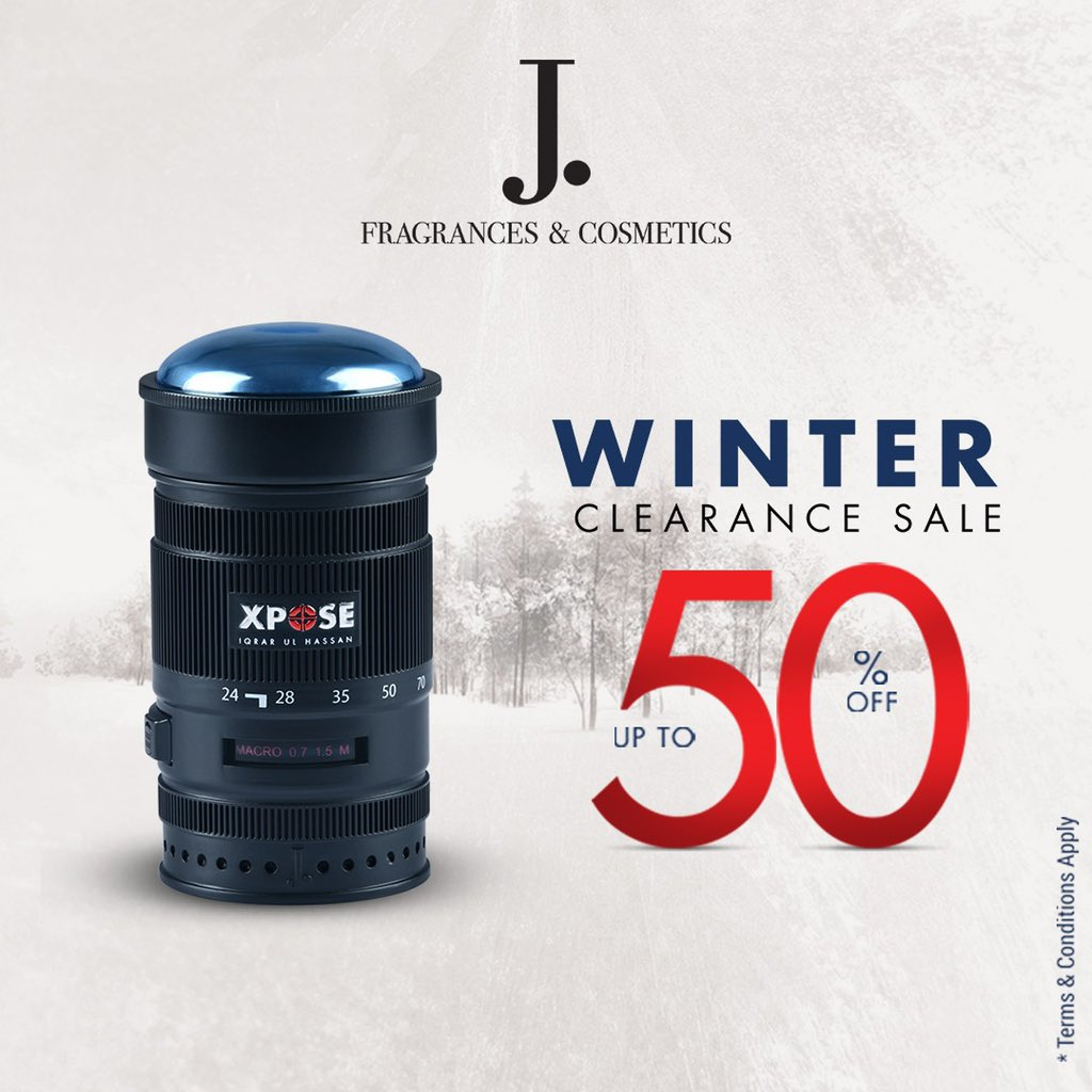 Xpose inspired by Iqrar-ul-Hassan, a composition intended for the resilient individuals, now available at up to 50% OFF on J. Winter Clearance Sale'21.  Enjoy exclusive discounts on the entire range of celebrity fragrances from JDot.   #JDot #JDotFragrances #WinterClearanceSale https://t.co/s2HN518Yq1