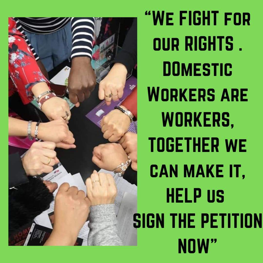 Let's start 2021 how we mean to go on. Stand in solidarity with migrant domestic workers in their call to reinstate the original ODW visa - the BEST way to protect workers from abuse and exploitation. Sign the petition here