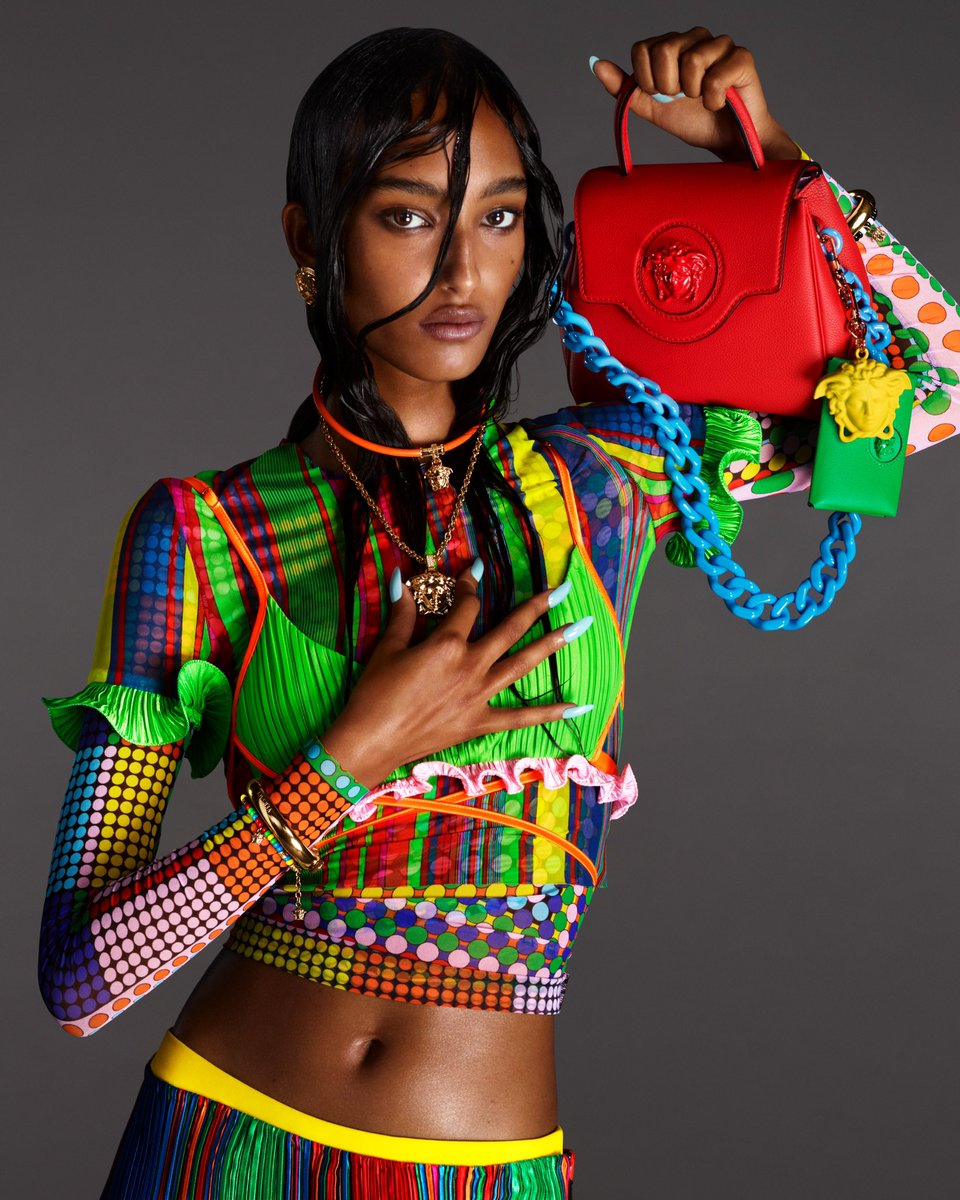 Replying to @Versace #MonaTougaard 🔱 Preview the fierce faces of the #VersaceSS21 campaign and our new #VersaceLaMedusa handbag. Learn more: