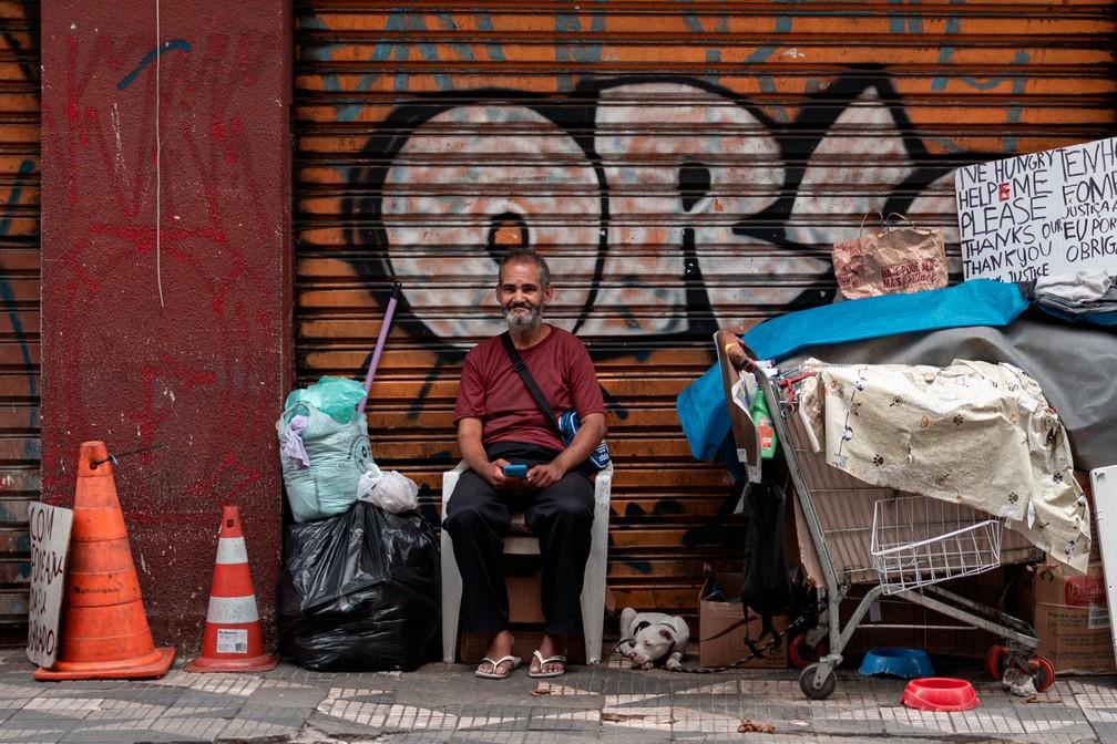 Prefeitura de SP gastou 7,4% do orçamento previsto para redução da população de rua nos últimos 2 anos  #G1