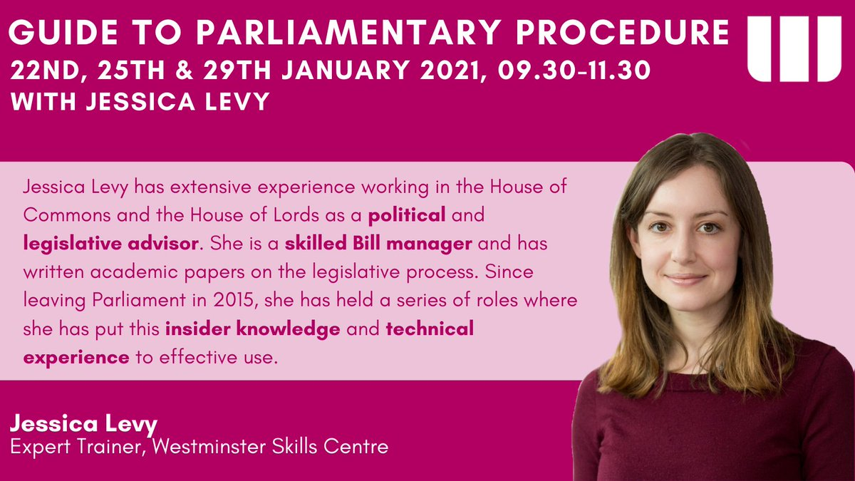 EXPERT TRAINER ANNOUNCEMENT 🥁🥁🥁🥁🥁  Jessica Levy will co-run this January's Guide to #Parliamentary #procedure @levy_jessica   Hurry! Book your place today 👉