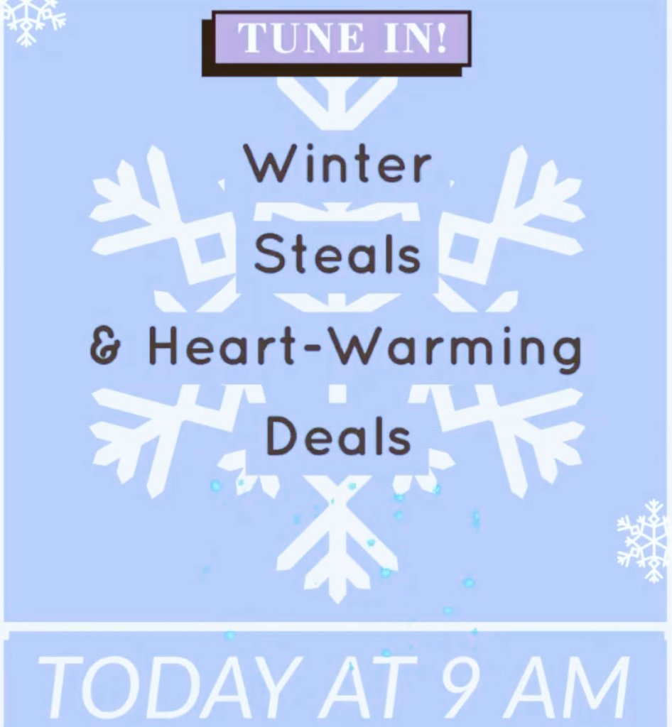 Join us today at 9AM for LIVE ONLINE SHOPPING on Facebook.  Today's theme: Winter Steals & Heart-warming Deals. Grab a coffee or hot tea, snuggle up & join the fun ☕️.  #facebooklive #onlineshopping #consignment #stealsanddeals #shopsmall #shoplocal #giveagift