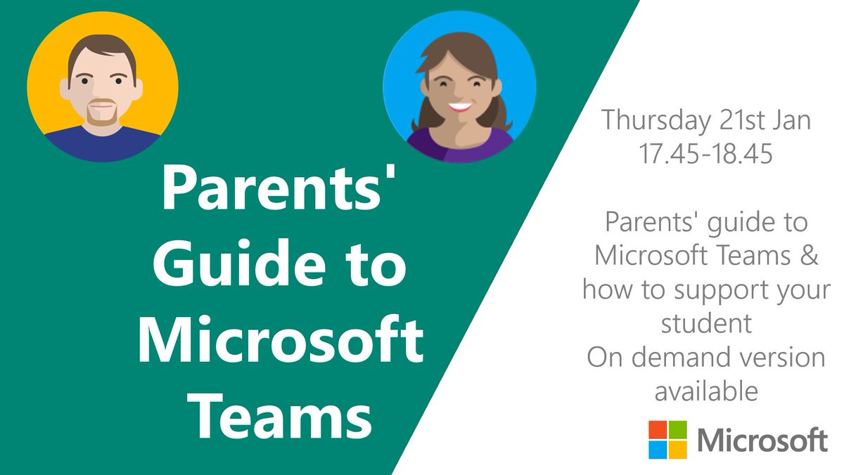 A thuistí/caomhnóirí Microsoft are hosting a Parents Information webinar on using Microsoft Teams. If interested, please register using the link below. Thanks for the ongoing support. Wonderful participation from students last week. Tús maith leath na hoibre. @MS_eduIRL