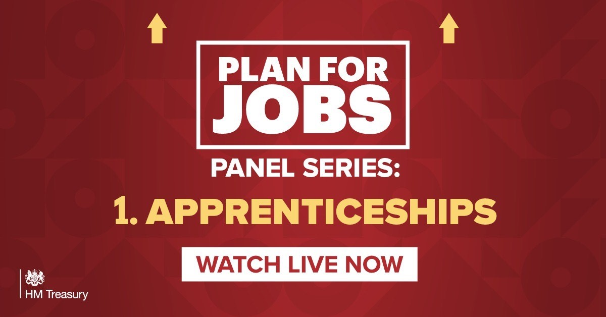 💻WATCH LIVE💻 I'm speaking to CEOs and apprentices from @MicrosoftUK, @PwC_UK, @Ldn_Ambulance and more about our #PlanForJobs and the value of apprenticeships. Click here: youtube.com/watch?v=9i8p7d…