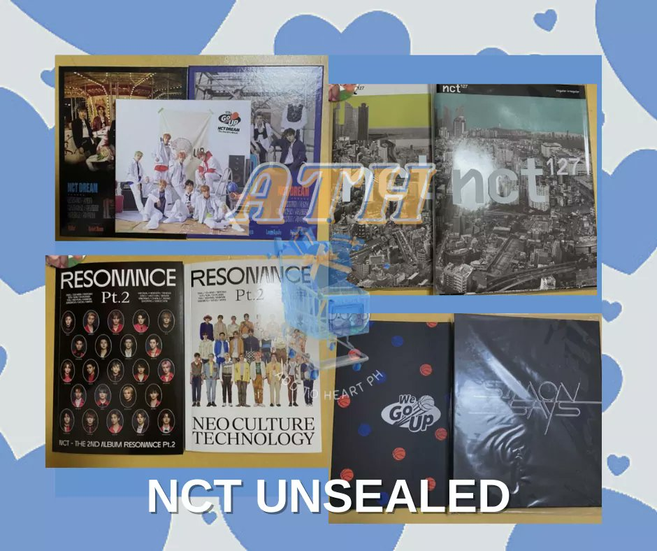 ‼️Help RT‼️ #AddtoHeartPHGO NCT UNSEALED ALBUM PH GO 🛒💙  Price range : Php 150-299 DOP: 7 DAYS AFTER YOU PLACED YOUR ORDER MOD: lbc, shopee checkout, meet up (sm calamba only) NO COD‼️  WITH FREEBIES‼️  Form: