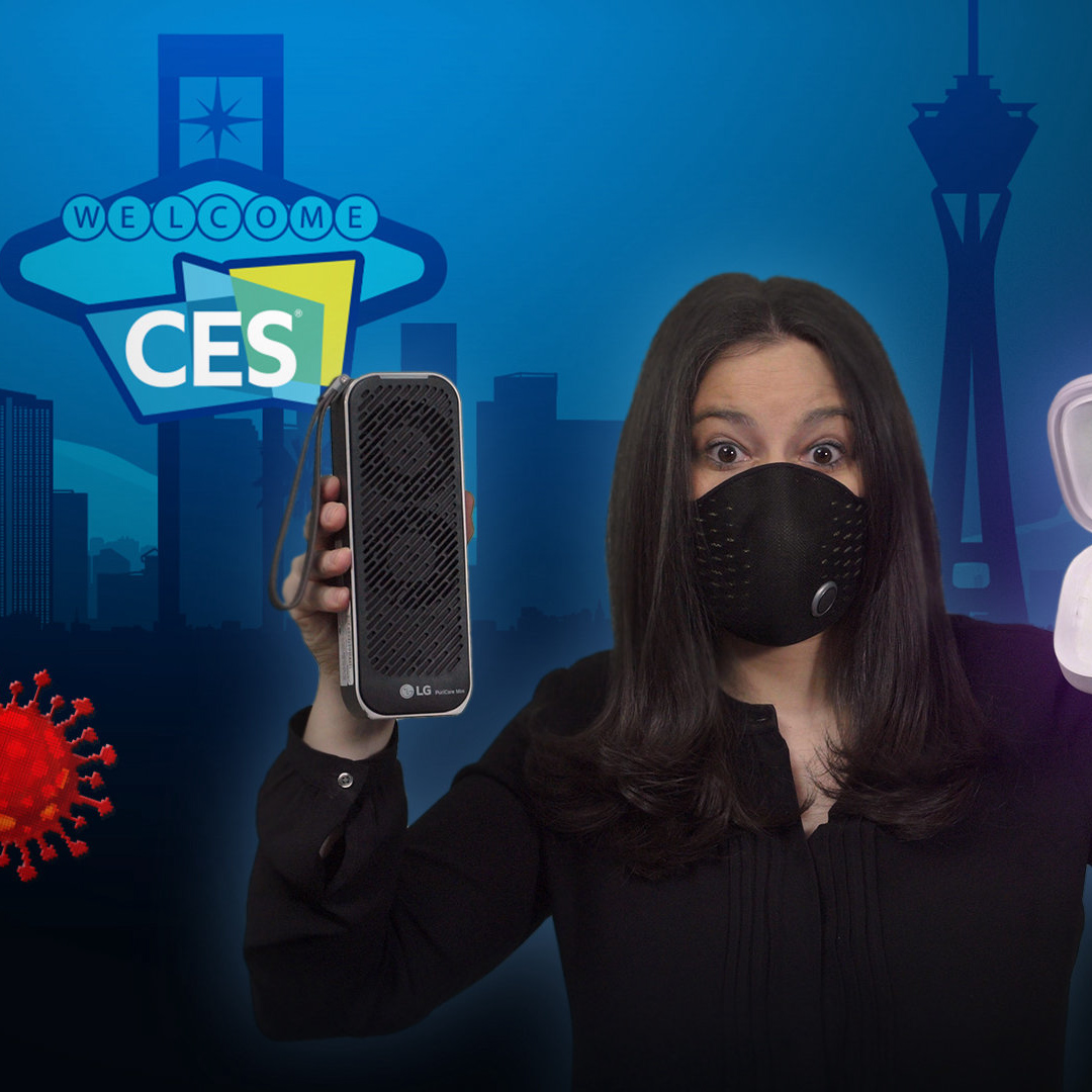 Connected masks, air purifiers and germ-killing UV gadgets have taken over this year's virtual tech megashow. @JoannaStern takes a closer look. #WSJWhatsNow #CES2021