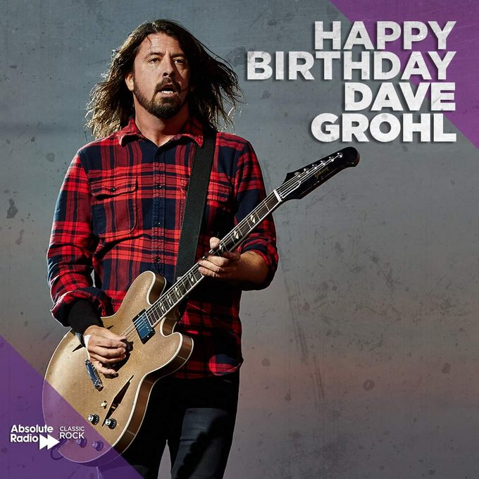 Happy birthday to the nicest man in rock, Nirvana drummer and Foo Fighters frontman, Dave Grohl!