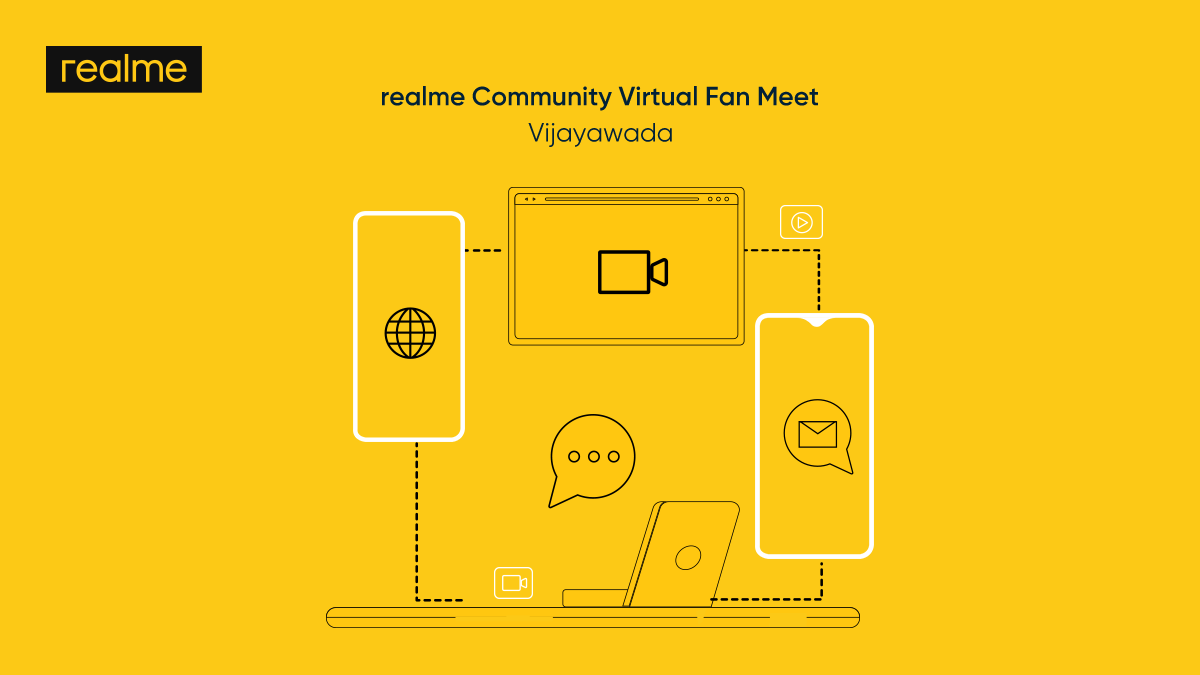 We are excited to organise the #realmeCommunity virtual fan meet in Vijayawada on 20th January. Join us as we talk about our latest products, host live Q&A with product managers and much more.  Register here: