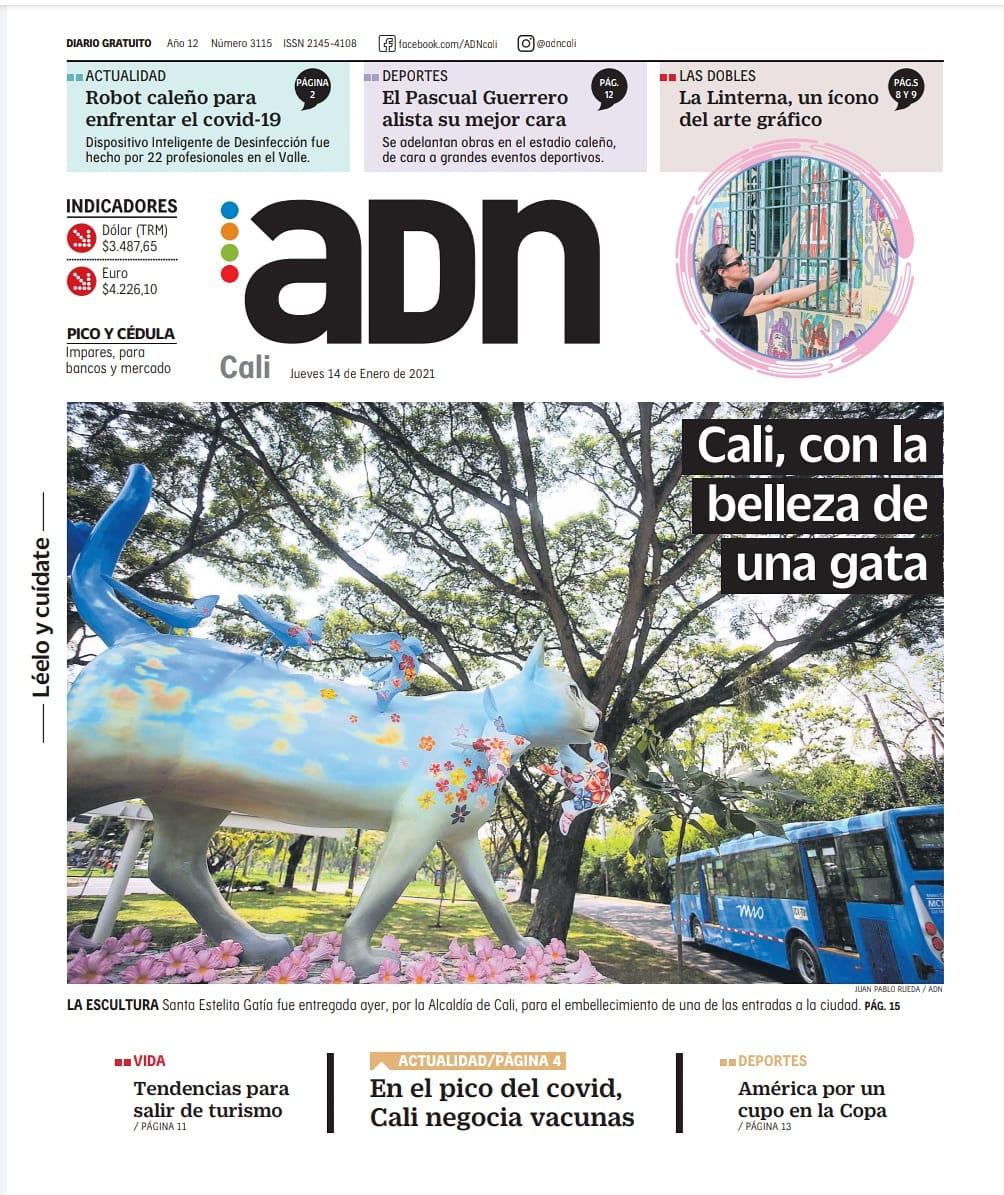 ¡Muy buenos dias! Te invitamos a leer nuestra edición de hoy, jueves 14 de enero. LéeloYCuídate #EsMiADN #AdnCali https://t.co/lBsNhMxfSe https://t.co/MtM8YHpYnh
