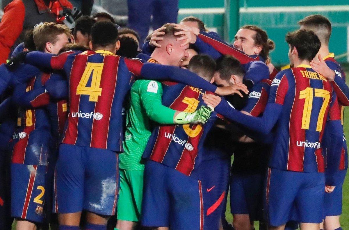 The first step has been taken, on to the final on Sunday! Compliments to the team 💙❤️ @FCBarcelona  - Se ha dado el primer paso para la final del domingo! Felicitaciones al equipo 💙❤️ #ForçaBarça