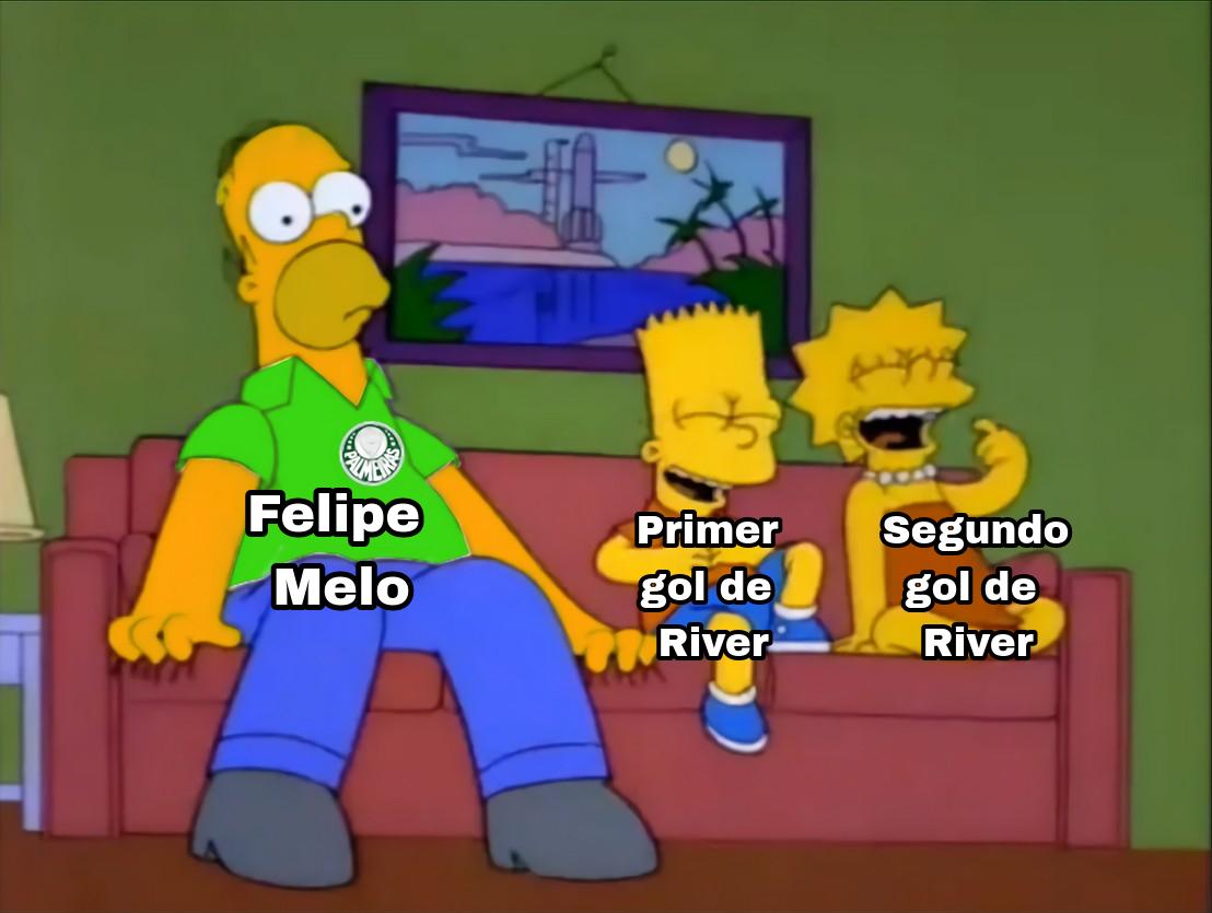 Así estaba Felipe Melo mirando River Plate vs Palmeiras... https://t.co/DHdQ2Hl5nX