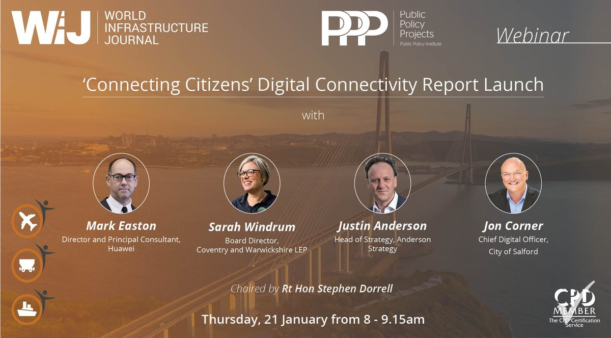 test Twitter Media - Next Thurs: 'Connecting Citizens' report launch webinar (8:00am-9:15am) with speakers Mark Easton, @Huawei, @jpeanderson, @SarahWindrum, @DigitalSalford.   Join to find out how the UK can revolutionise its connectivity.  @TheCPDService approved.  Register: https://t.co/5p4Oxa9Qas https://t.co/9jtuBrfaG8
