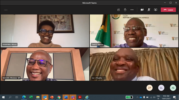 During today's meeting between @Winnie_Byanyima & @DrZweliMkhize Minister @HealthZA on the colliding AIDS/#COVID19 pandemics, the Minister confirmed 🇿🇦's strong support for the next #GlobalAIDSStrategy & commended the push for a #PeoplesVaccine