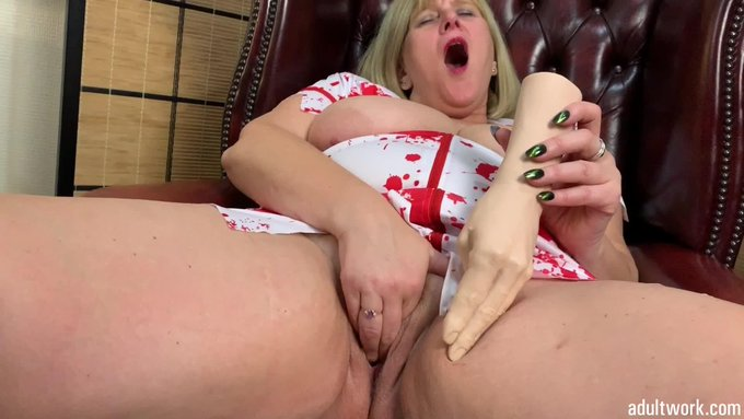 I have just uploaded a new clip to my #Adultwork.com Movie Library, check it out! Hand dildo Pussy Fuck