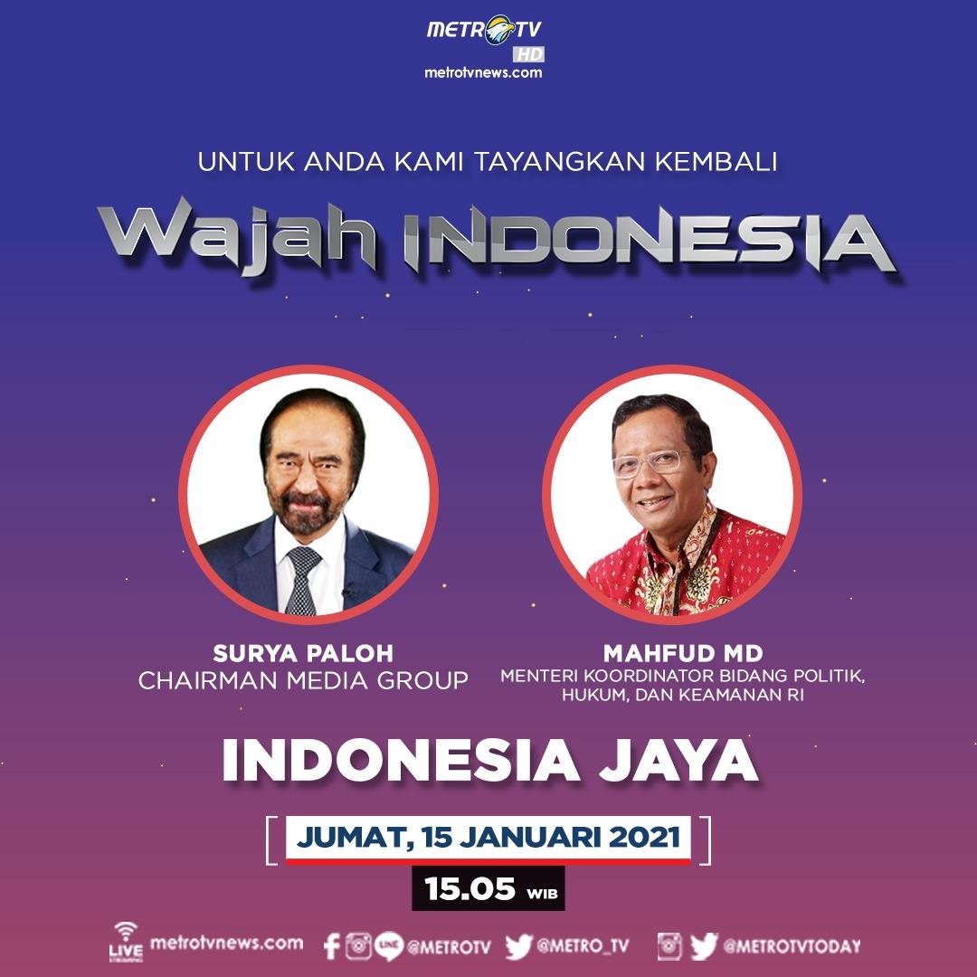 "Banyak tantangan yang dihadapi untuk terus berjalan menuju cita-cita kemerdekaan. Apa yang seharusnya dilakukan bangsa ini untuk menyikapi tantangan demokrasi? Selengkapnya di #WAJAHINDONESIAMETROTV ""Indonesia Jaya"" hari Jumat (15/1) pukul 15.05 WIB."