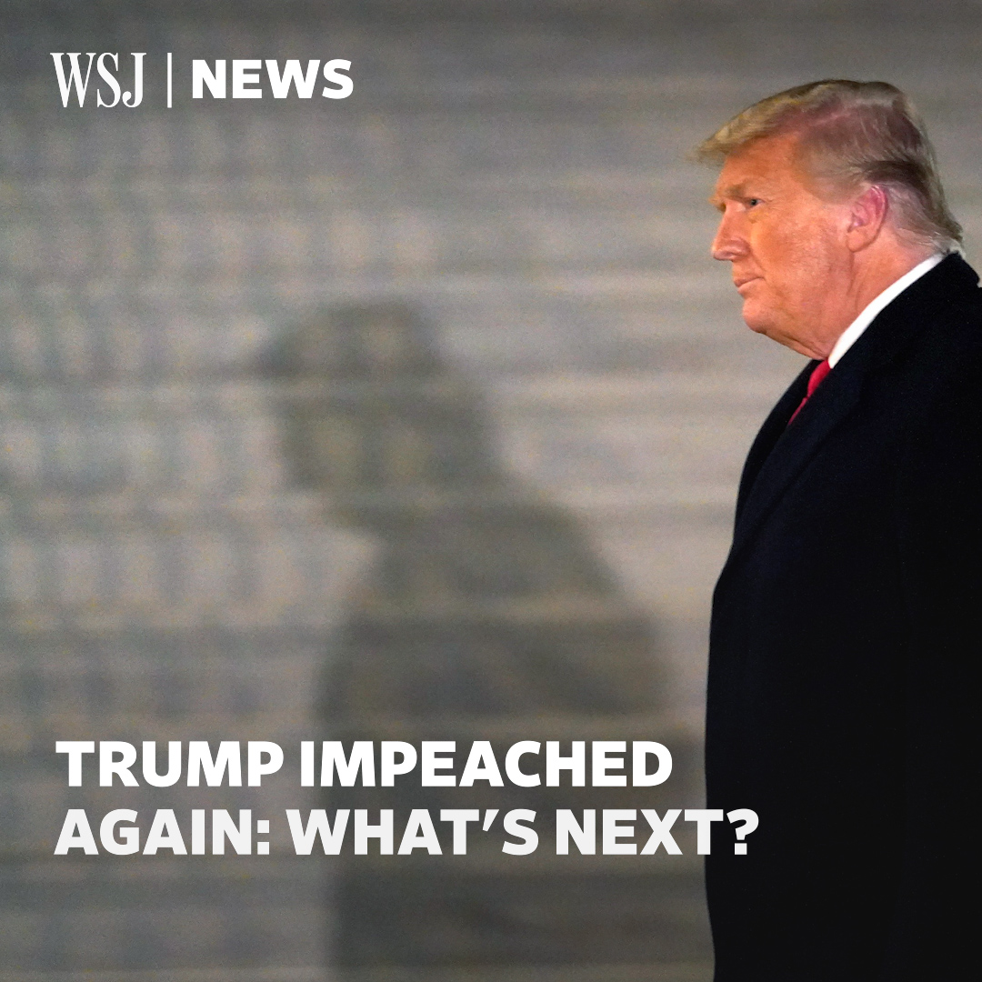 President Trump's second impeachment has highlighted divisions in the Republican party and raises questions about how and when a Senate trial might play out #WSJWhatsNow