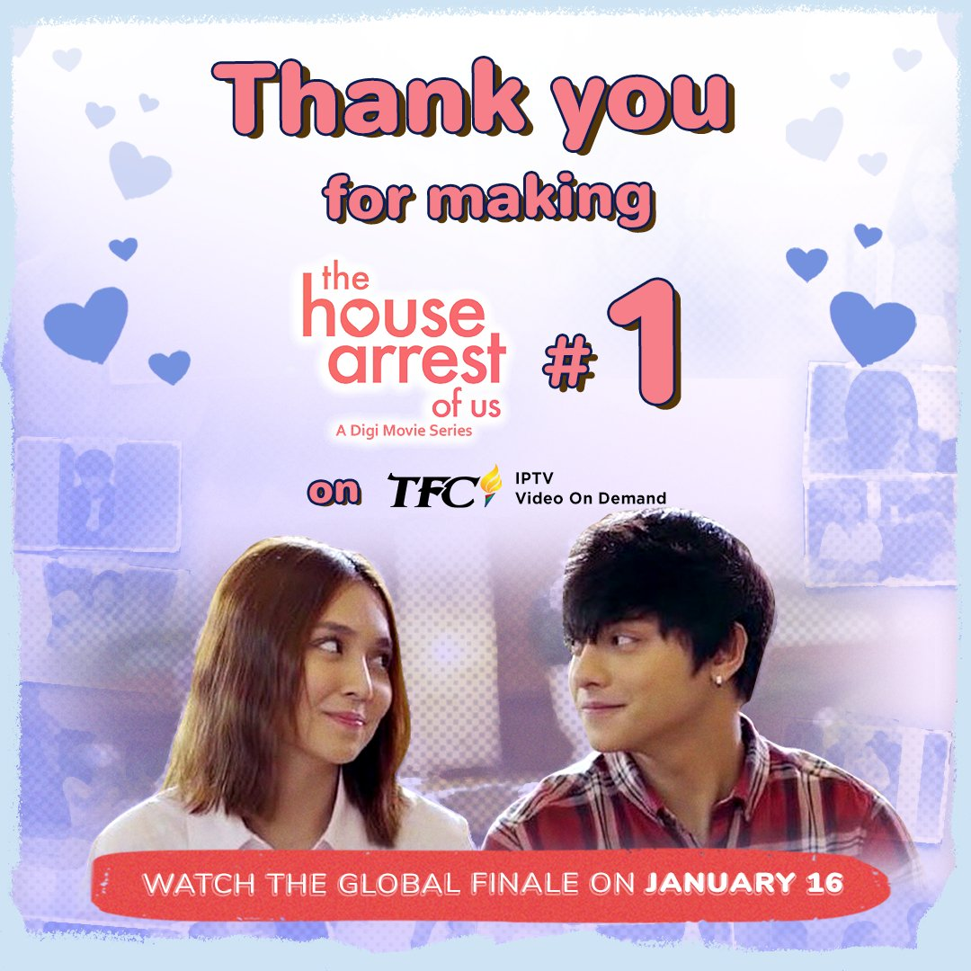 To all #QRics fans worldwide, thank you for making The House Arrest Of Us #1 on TFC IPTV! 😘  Watch the global finale this Jan 16!