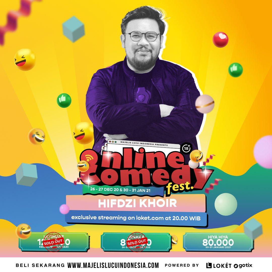 Komedian cilik @hifdzikhoir siapp menghibur kalian di Online Comedy Fest!  30-31 Januari 2021 Pukul 20.00 Tayang di @loketcom   Beli tiketnya di