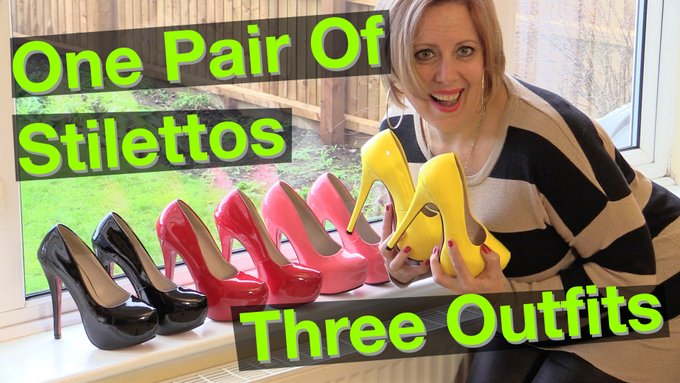 Catch my new YouTube video 'One Pair Of Stilettos, Three Outfits' https://t.co/dmOaQfzumo which premere's