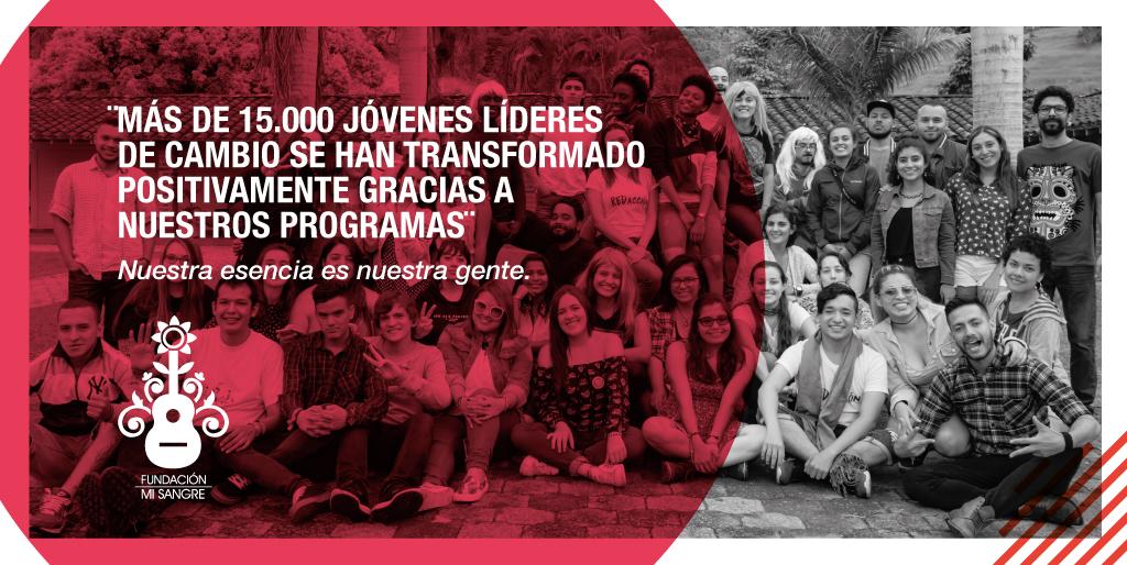 Más de 15.000 jóvenes líderes de cambio, se han transformado positivamente gracias a nuestros Programas Para donar a nuestro trabajo con niños, niñas y jóvenes de Colombia dona en el link de nuestra biografía.