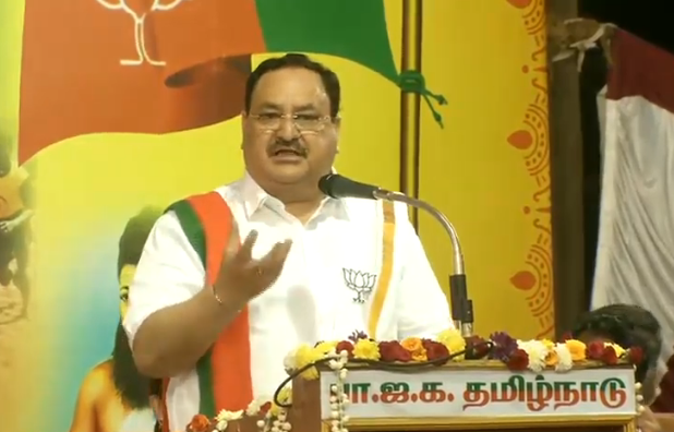 Modi Ji has contributed and tried to see to it that the whole country goes forward but at the same time, he's also made sure that Tamil Nadu takes a big leap as far as development is concerned.   - Shri @JPNadda   #WelcomeNaddaJi