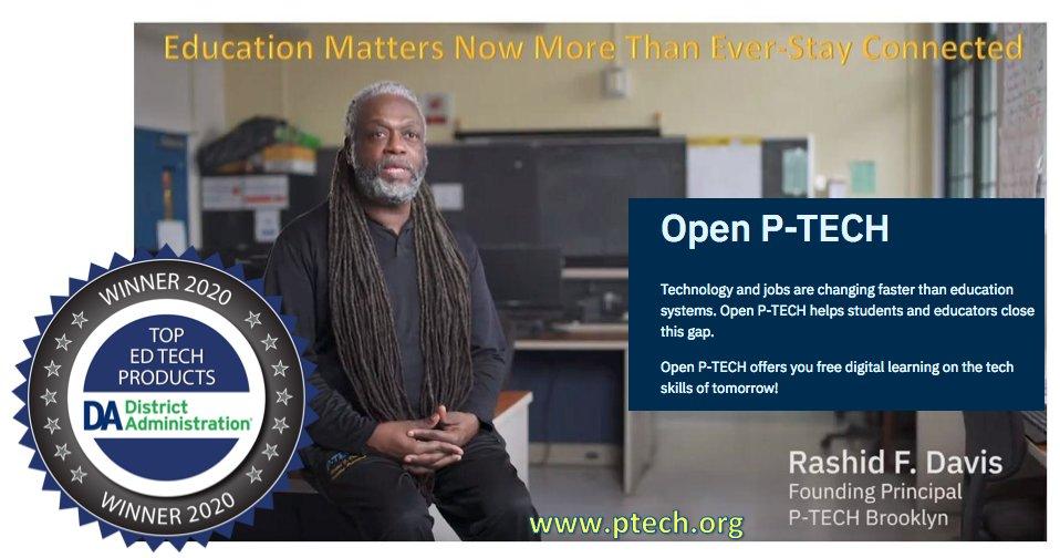 Congrats @IBMorg @IBM Open P-TECH Introducing the Top Ed Tech Products of 2020  @DA_magazine #ptech #weareptech @PathwaysInTech @Pathways_BK_PTA @PTECHNETWORK @rashidfdavis #thursdaymorning #thursdayvibes @MDRC_News @EdTrustNY #edtech #edtechchat