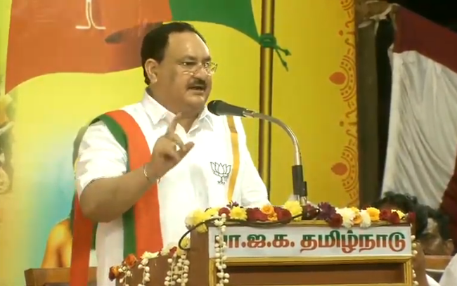 Rs 2,875 crore is being spent on Chennai Metro and Rs 3,267 crore is being spent on Monorail in the state.   Under the AWAS Yojana, 5.36 lakh houses have been constructed for the poor.  - Shri @JPNadda   #WelcomeNaddaJi