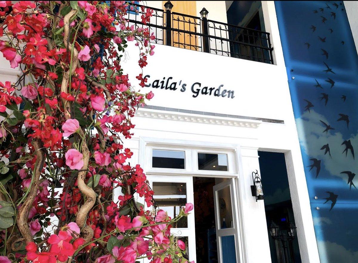 @HashKSA مطعم ليلى جاردن | Laila garden 🍽  مطعم جميل بطراز يوناني رفيع 💙🤩  Laila Garden - Greek Mediterranean Restaurant طريق الامير سلطان، Street، جدة 23435 054 111 4130 …  📍#جدة