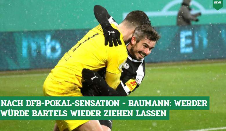 Ein Tor während der 90 Minuten & den entscheidenden Elfer verwandelt: Fin #Bartels war beim sensationellen Pokalerfolg von Holstein Kiel gegen den #FCBayern der große Held. Bei #Werder stehen sie zur Entscheidung, ihm keinen neuen Vertrag gegeben zu haben👉https://t.co/MQkd051dH7 https://t.co/sk18yz7YGB