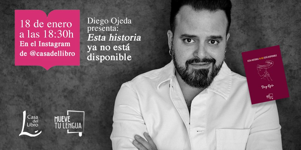 ¡Te esperamos en el IG de @casadellibro el próximo lunes junto a @diegoojeda85!