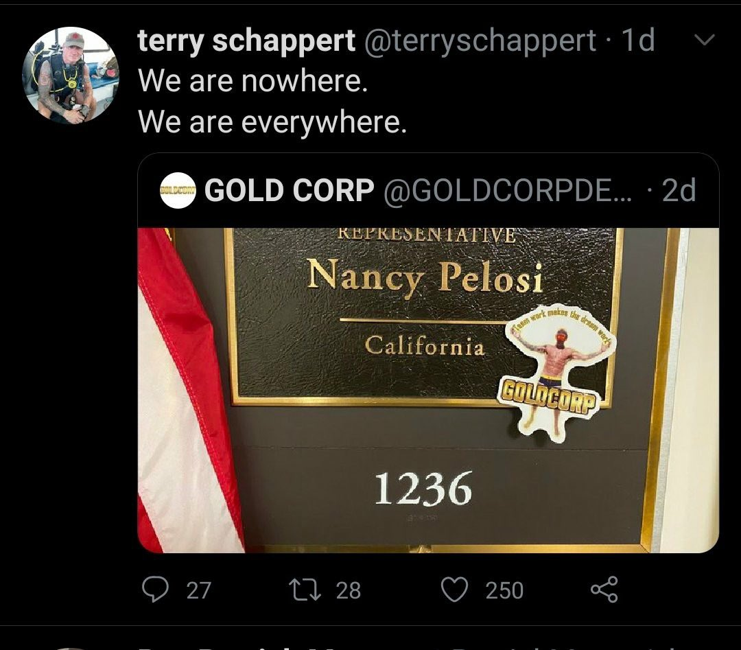 NOTE: Some exSpecial Forces twitter #Boogaloo bros who call themselves #GoldCorp PMC took part in the reconnaissance tour of Capitol Hill on Jan 5th. They're scrambling now saying it was for a MoH award ... but they took & distributed these pictures ...