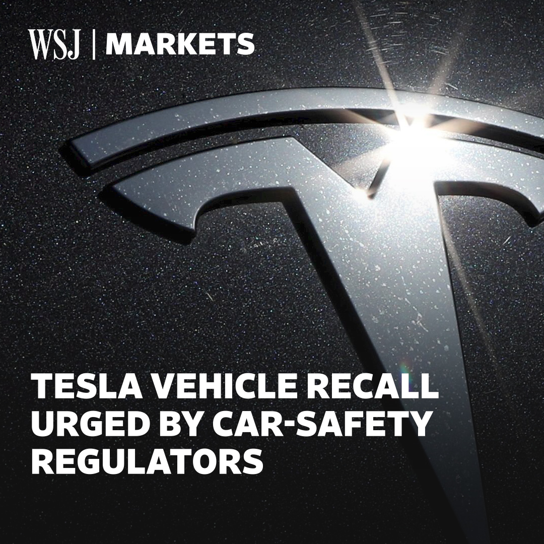 Federal regulators are asking Tesla to recall around 158,000 vehicles over safety concerns, as the company's stock continues flying high #WSJWhatsNow