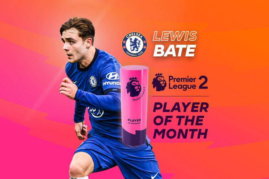 18-year-old midfielder Lewis Bate wins #PL2 Player of the Month 🔵  He played a key role in @ChelseaFC winning all three of their December matches ➡️    #PLAwards